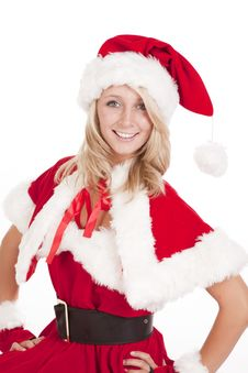 Free Santas Helper Hands On Hips Royalty Free Stock Photos - 16521728