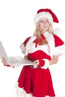 Free Santas Helper Looking Back Royalty Free Stock Images - 16521819