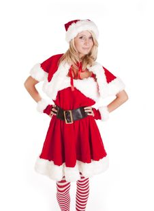 Free Santas Helper Standing Hands On Hips Stock Photo - 16521830