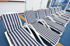 Row Of Beach Chairs Stock Image