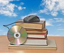 Free Books, Dvd, And Mouse Stock Photo - 16522140