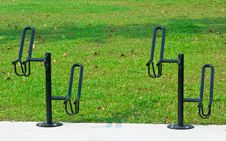 Free Metal Bicycle Racks Stock Photography - 16522442