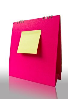 Free Note On Pink Calender Royalty Free Stock Photography - 16522887
