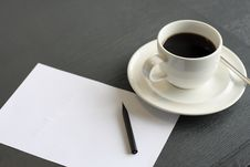 Free Coffee And Notepaper Stock Photos - 16523163