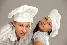 Free Young Loving Couple Cooks. Stock Photography - 16523212