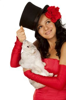 Free Magician With  Bunny Royalty Free Stock Photography - 16523227