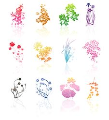 Free Vector  Flower Group Stock Images - 16523334