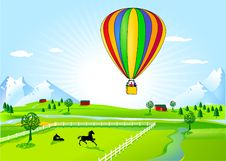 Free Hot-air Balloon Ride Royalty Free Stock Photography - 16524317