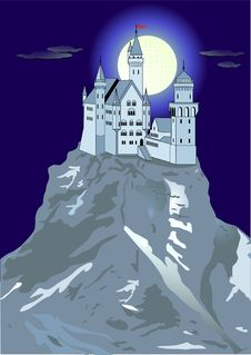 Castle And Hill Stock Image