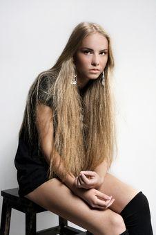Free Attractive Beautiful Girl Posing In Studio Royalty Free Stock Photo - 16524395