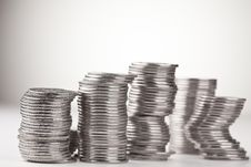 Free Stacks Of Coins Royalty Free Stock Photo - 16524495