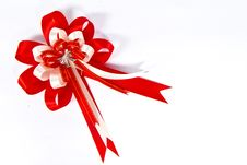 Free Red Bow And White Stock Photography - 16524732