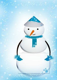 Free Cute Christmas Snowman Stock Image - 16524951