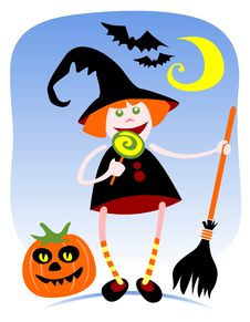 Free Halloween Witch Royalty Free Stock Image - 16525136