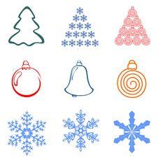 Free Christmas Element Royalty Free Stock Photo - 16525305