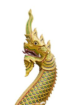 King Of Naga On White Background Stock Image
