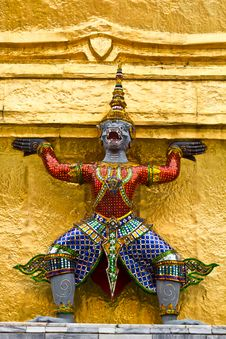 Free Giant Stand Around Pagoda Of Thailand Stock Image - 16525521