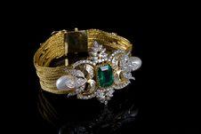 Free Diamond Bracelet Royalty Free Stock Photography - 16526037