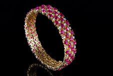 Free Diamond Bracelet Royalty Free Stock Photography - 16526117