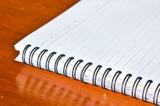 Free Close Up Of Spiral Notebook Royalty Free Stock Photography - 16526257