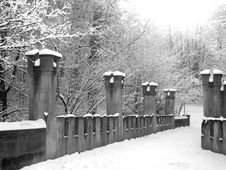 Free Black And White Image Of Snowy Bridle Path Royalty Free Stock Photography - 16526387