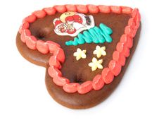 Free Christmas Gingerbread Heart Royalty Free Stock Photo - 16526485