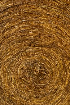 Closeup Of The Side Of A Haybale Stock Photography