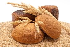 Free Bread With Wheat And Ears Royalty Free Stock Photos - 16526998
