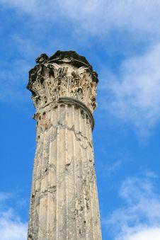 Free Roman Column In Carthagena, Tunisia Royalty Free Stock Image - 16527186