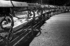 Free Benches In The Park Royalty Free Stock Photos - 16527208