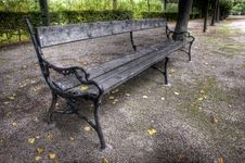 Free Bench In The Park Royalty Free Stock Photography - 16527357