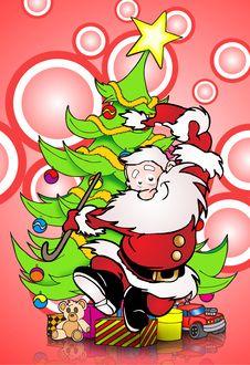 Happy Santa Claus Stock Images