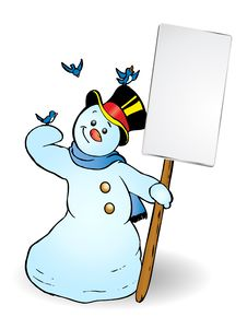 Free Snowman Banner Royalty Free Stock Photo - 16527975
