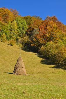 Free Haystack On An Autumn Hillside Royalty Free Stock Photo - 16528415