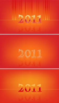 Free Set Of Numbers In 2011 In Red Stock Images - 16528824