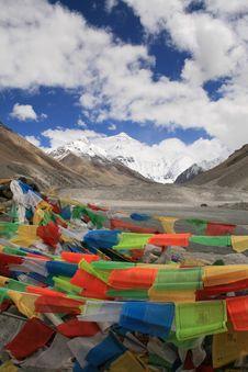 Free Asia, TIBET Everest Mountain Royalty Free Stock Image - 16529036
