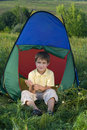 Free Boy In Camping Tent Stock Photos - 16531973