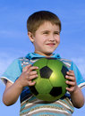 Free Boy With Soccer Ball Royalty Free Stock Photography - 16532047