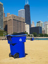 Free Trash Can In The Beach Royalty Free Stock Images - 16536189