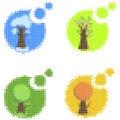 Free Mosaic Seasonal Icons Stock Images - 16536334