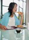 Free Woman Having Breakfast With Espresso Coffee Royalty Free Stock Photo - 16539095