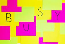 Free  Busy  Colorful Reminder Note Royalty Free Stock Image - 16530406
