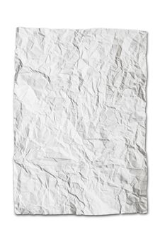 Free Wrinkled White Paper Isolated Royalty Free Stock Photos - 16530728