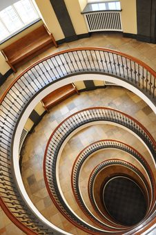Free Spiral Staircase Royalty Free Stock Photo - 16530795