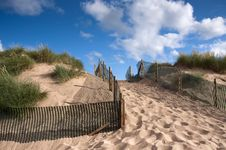 Free Sand Dune With Path Stock Photos - 16530933