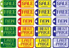 Free Vector Labels Stock Photography - 16531572