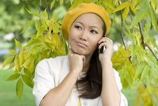 Free Girl Talking By Phone Stock Image - 16531641