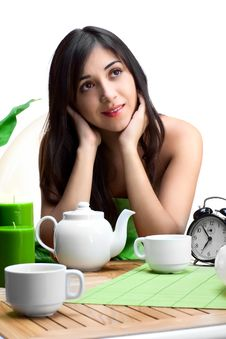 Free Beautiful Woman  In Cafe Royalty Free Stock Photography - 16531747