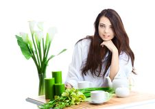 Free Beautiful Woman  In Cafe Royalty Free Stock Images - 16531769