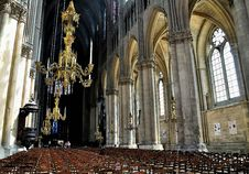 Free Interior Of A Cathedral In Reims. Stock Photo - 16531830